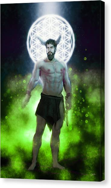 Atheism Canvas Print - Asmodeo, Demon Womanizer by Joaquin Abella
