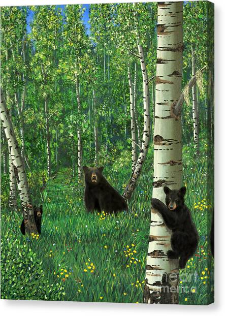 Aspen Bear Nursery Canvas Print
