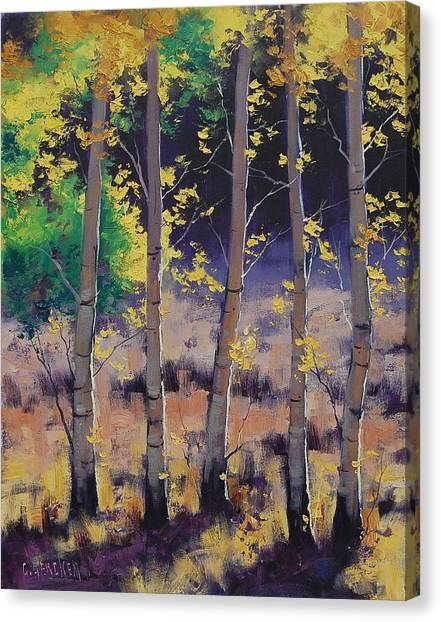 Amber Canvas Print - Aspen Colors by Graham Gercken