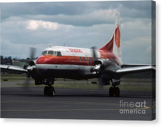 George Bush Canvas Print - Aspen Convair 580 by James B Toy