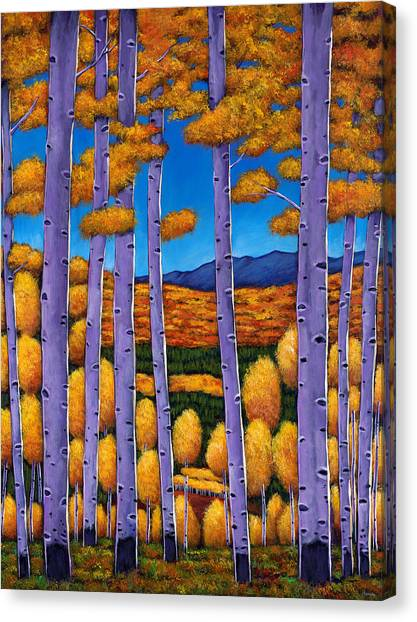 Autumn Scene Canvas Print - Aspen Country II by Johnathan Harris