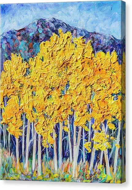 Aspens #4 Canvas Print