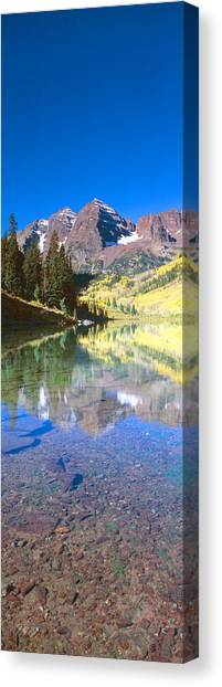 Contour Canvas Print - Aspens And Morning Light, Maroon Bells by Panoramic Images