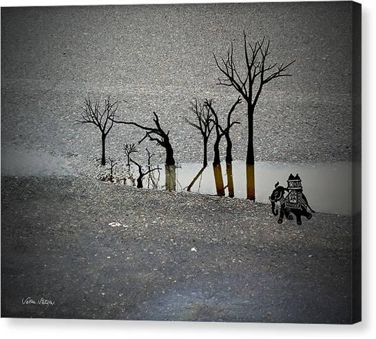 Canvas Print - Asphalt Oasis by Sabine Stetson