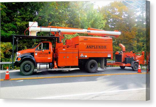Asplundh Tree Expert Company Trucks Canvas Print