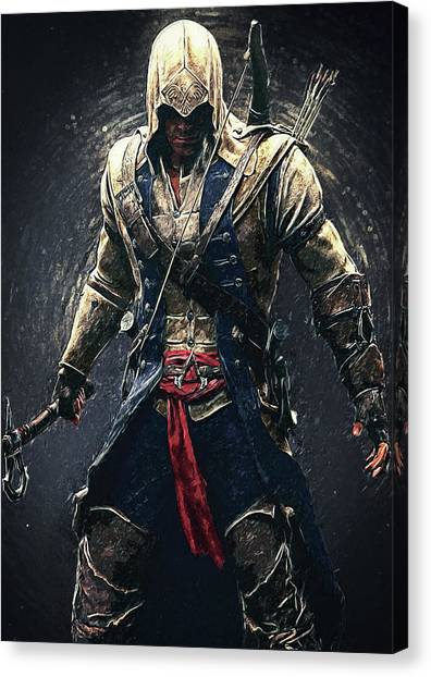 Xbox Canvas Print - Assassin's Creed - Connor by Taylan Soyturk