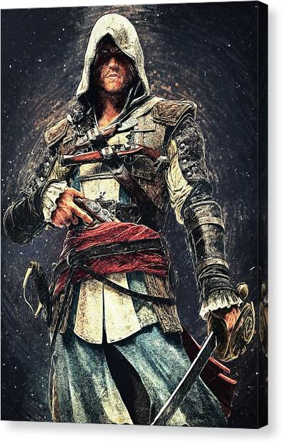Xbox Canvas Print - Assassin's Creed - Edward Kenway by Zapista
