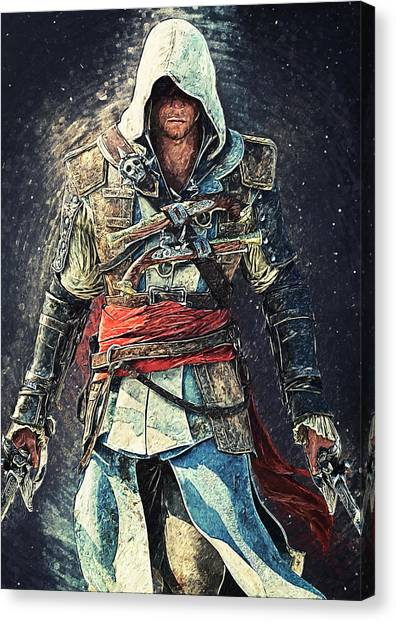 Xbox Canvas Print - Assassin's Creed by Taylan Soyturk