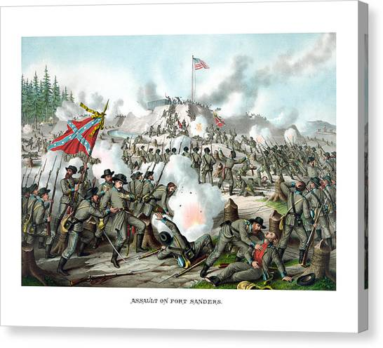 Battle Canvas Print - Assault On Fort Sanders by War Is Hell Store