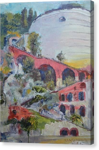 Assenseur Du Chateau Canvas Print by Bryan Alexander