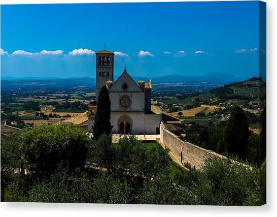 Assisi-basilica Di San Francesco Canvas Print