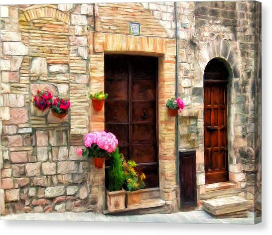 Assisi Doorways Canvas Print