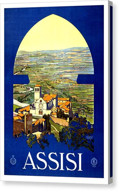 City Landscape Canvas Print - Assisi, Perugia, Italy by Long Shot