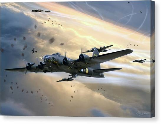 United States Army Air Corps Canvas Print - Assault On Romilly by Peter Chilelli