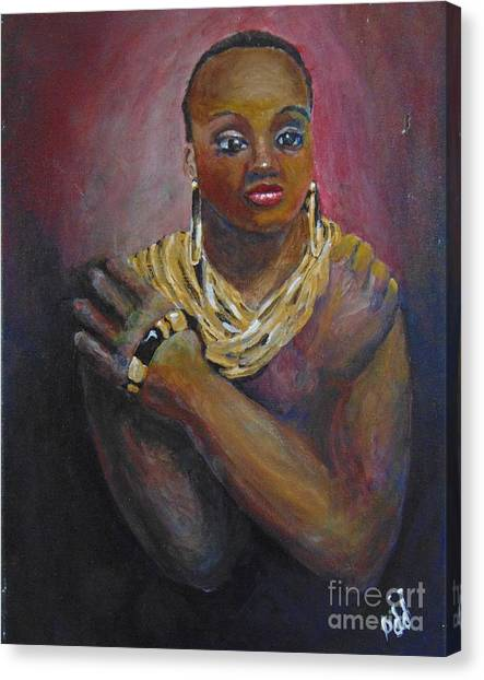 Canvas Print featuring the painting Assured by Saundra Johnson