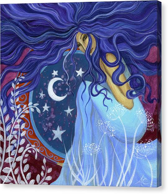 Purple Canvas Print - Astarta by Amanda Clark