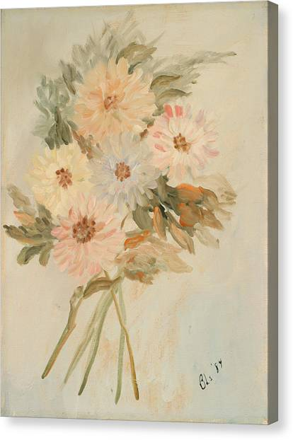 Aster Bouquet Canvas Print by Betty Stevens