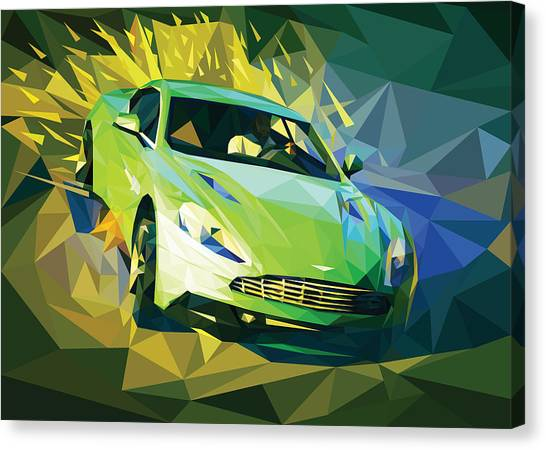 Grand Theft Auto Canvas Print - Aston In The Sand by James Bryson