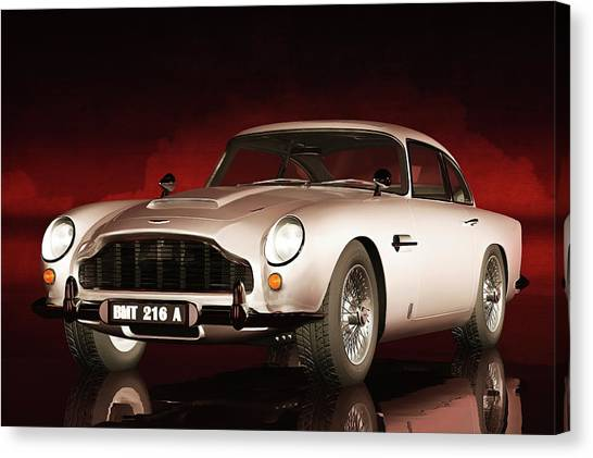 Canvas Print featuring the painting Aston Martin Db5 by Jan Keteleer
