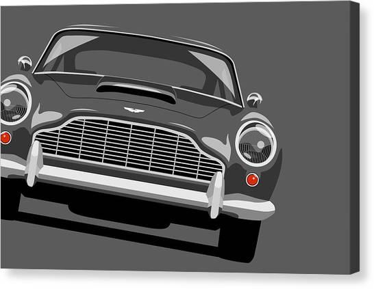 Car Canvas Print - Aston Martin Db5 by Michael Tompsett