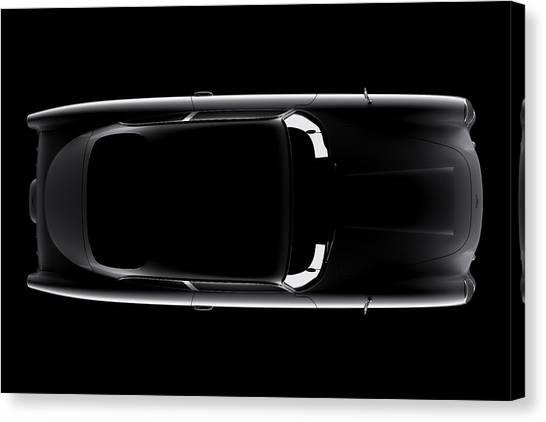 Aston Martin Db5 - Top View Canvas Print
