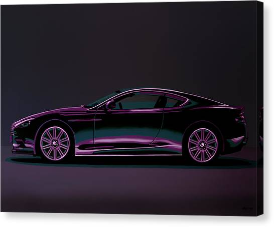 Realism Art Canvas Print - Aston Martin Dbs V12 2007 Painting by Paul Meijering