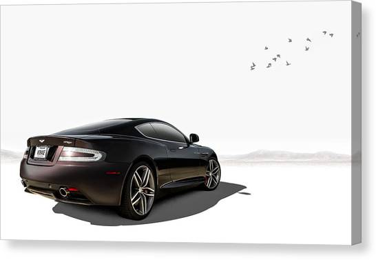 British Canvas Print - Aston Martin Virage by Douglas Pittman