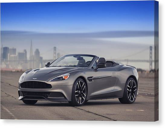 Canvas Print featuring the photograph Aston Vanquish Convertible by ItzKirb Photography