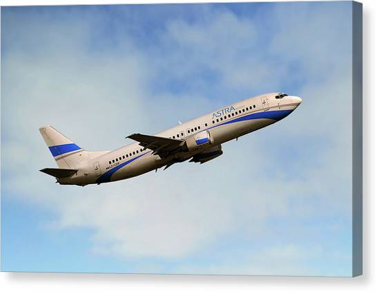 Airlines Canvas Print - Astra Airlines Boeing 737-46j by Smart Aviation