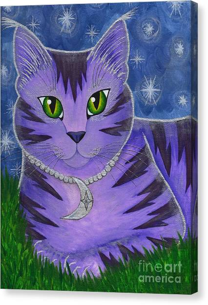 Astra Celestial Moon Cat Canvas Print