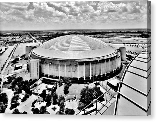 University Of Houston Canvas Print - Astrodome 5 by Benjamin Yeager