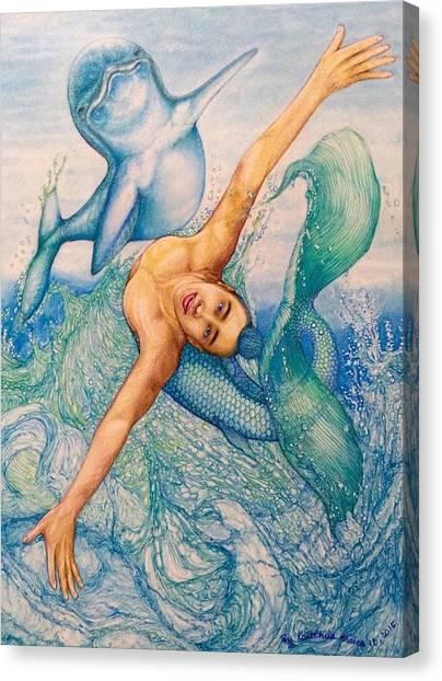 Plus Canvas Print - Astrology Zodiac Signs Pisces by Kent Chua