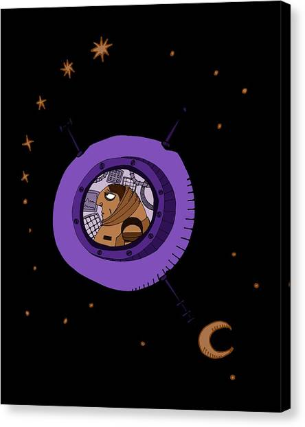Astronaut In Deep Space Canvas Print