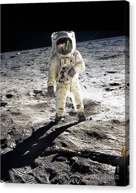Mission Canvas Print - Astronaut by Photo Researchers