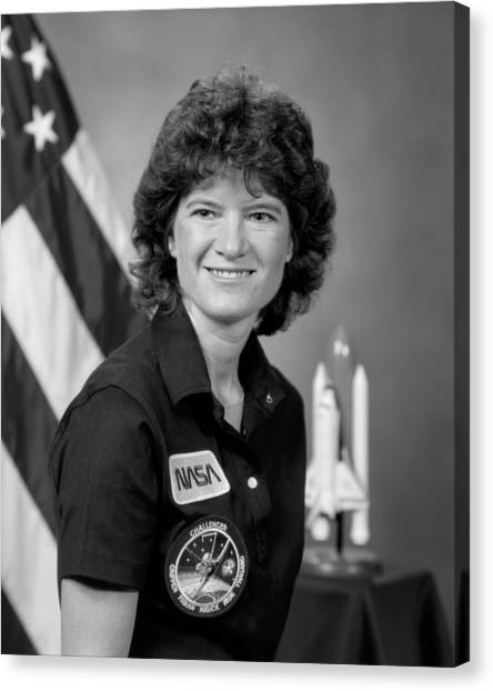 Astronauts Canvas Print - Astronaut Sally Ride  by War Is Hell Store