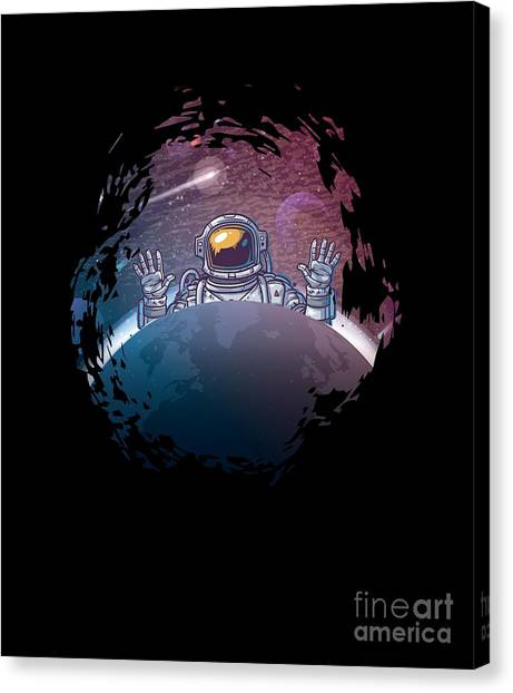 Canvas Print - Astronaut Space Universe by Thomas Larch