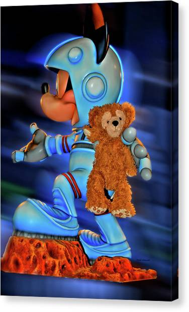 Thomas The Train Canvas Print - Astronaut Training Bear Mp by Thomas Woolworth