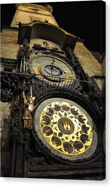 Astronomical Clock Canvas Print by Heidi Pix