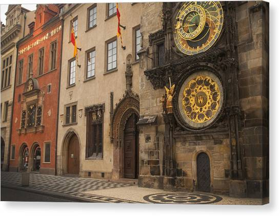 Astronomical Clock In Old Prague Canvas Print