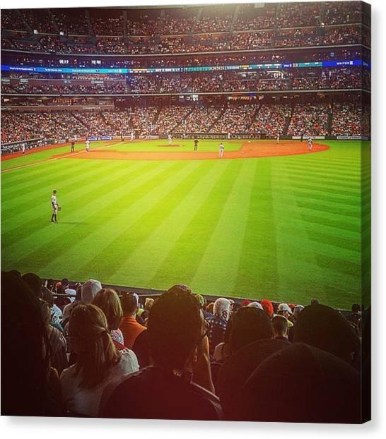 Houston Astros Canvas Print - Astros !!! #astros #happy #smile #htown by Abigail Winard