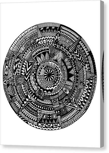 Black And White Canvas Print - Asymmetry by Elizabeth Davis