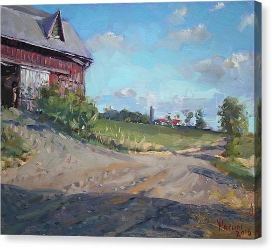 Ontario Canvas Print - At Barn In Georgetown On by Ylli Haruni