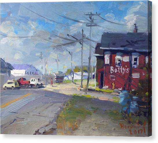 Grills Canvas Print - At Bettys Grill North Tonawanda by Ylli Haruni