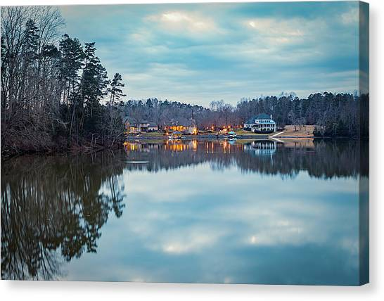 At Home On The Lake Canvas Print