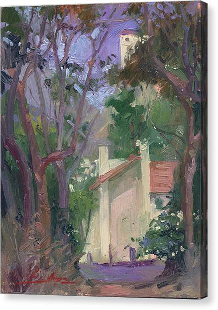 At Jourey's End Plein Air Canvas Print
