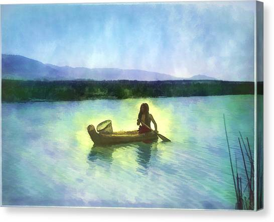 At Peace On The Water Canvas Print