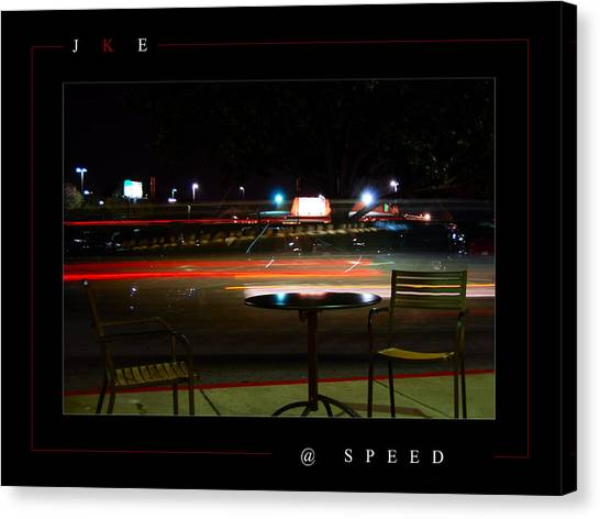 At Speed Canvas Print by Jonathan Ellis Keys