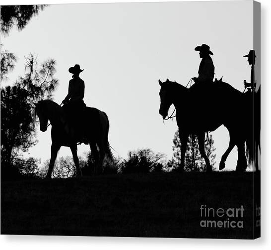 At Sunset On The Ranch Canvas Print