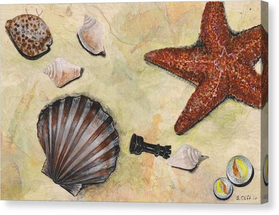 At The Beach Canvas Print by Sandy Clift