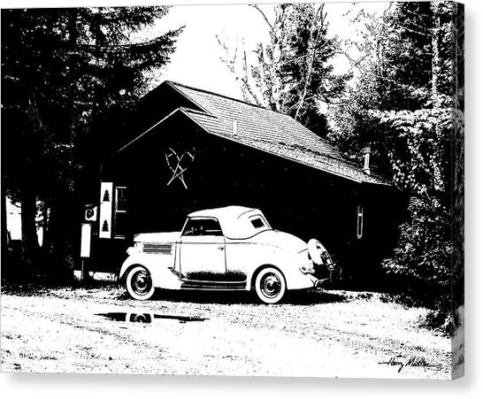 At The Cabin Canvas Print